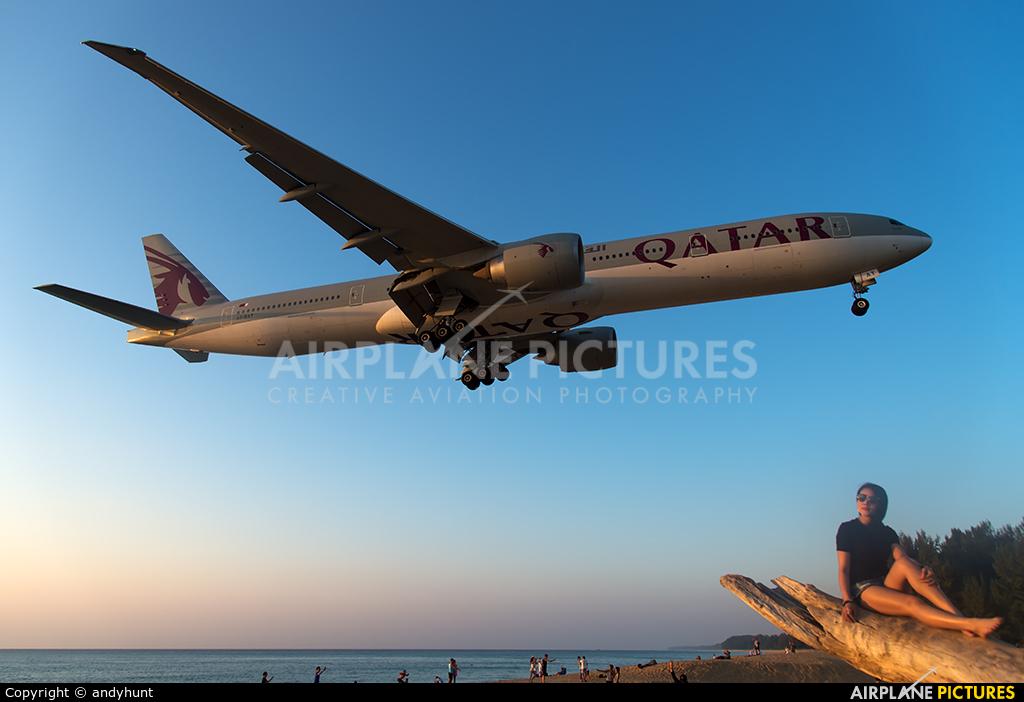 Qatar Airways A7-BAT aircraft at Phuket