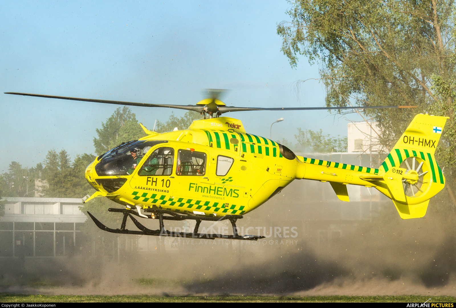 FinnHEMS OH-HMX aircraft at Off Airport - Finland