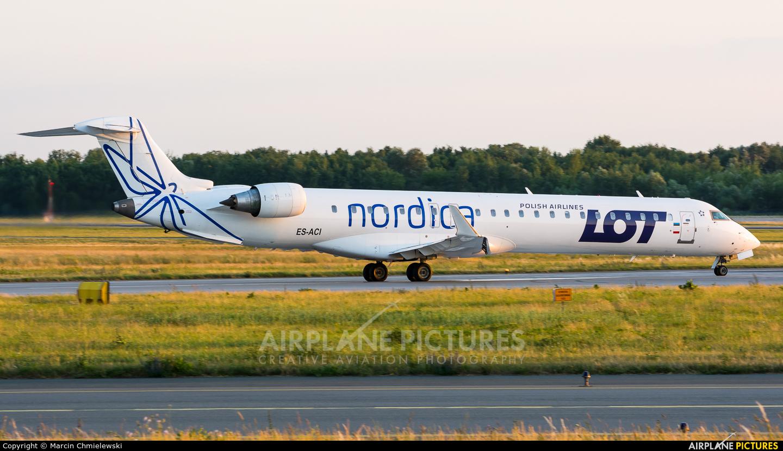 Nordica ES-ACI aircraft at Warsaw - Frederic Chopin