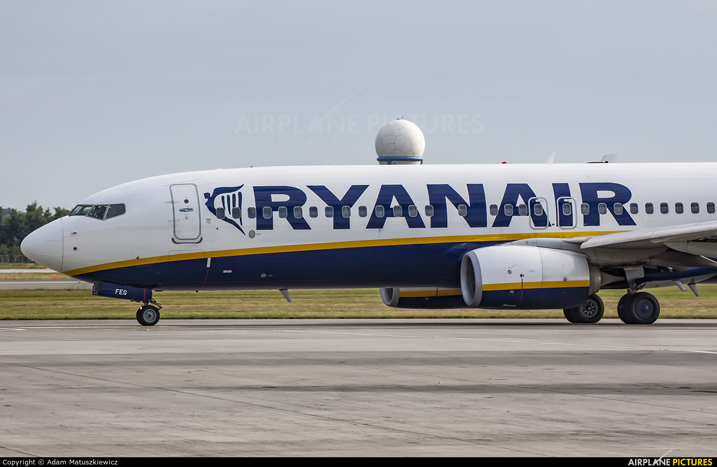 Ryanair EI-FEG aircraft at Katowice - Pyrzowice