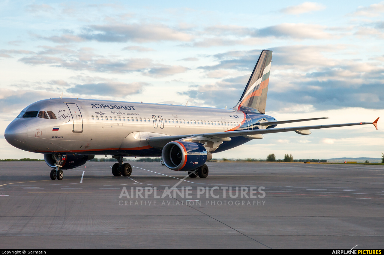 Aeroflot VP-BZS aircraft at Kazan