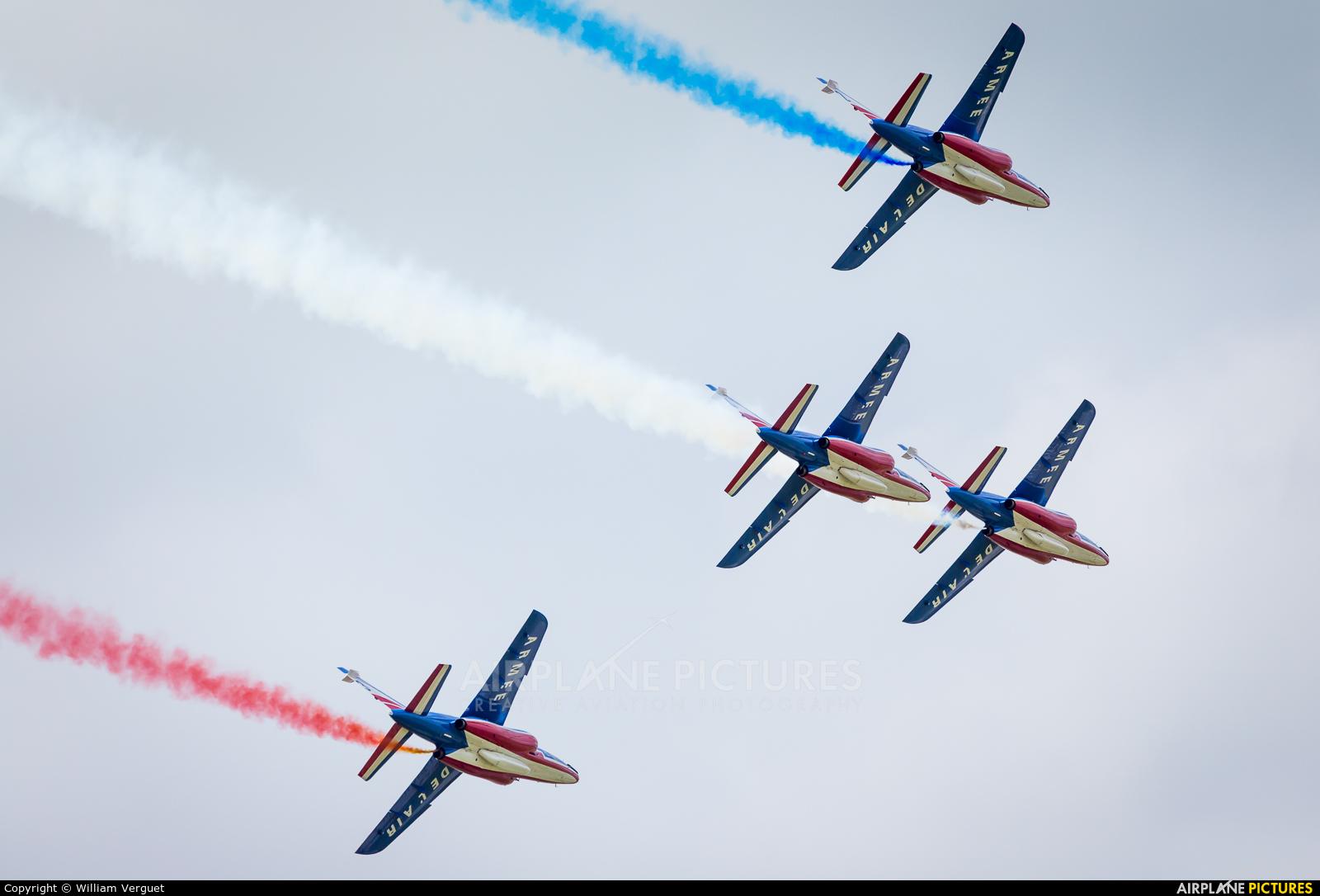 """France - Air Force """"Patrouille de France"""" E45 aircraft at Evreux Fauville"""