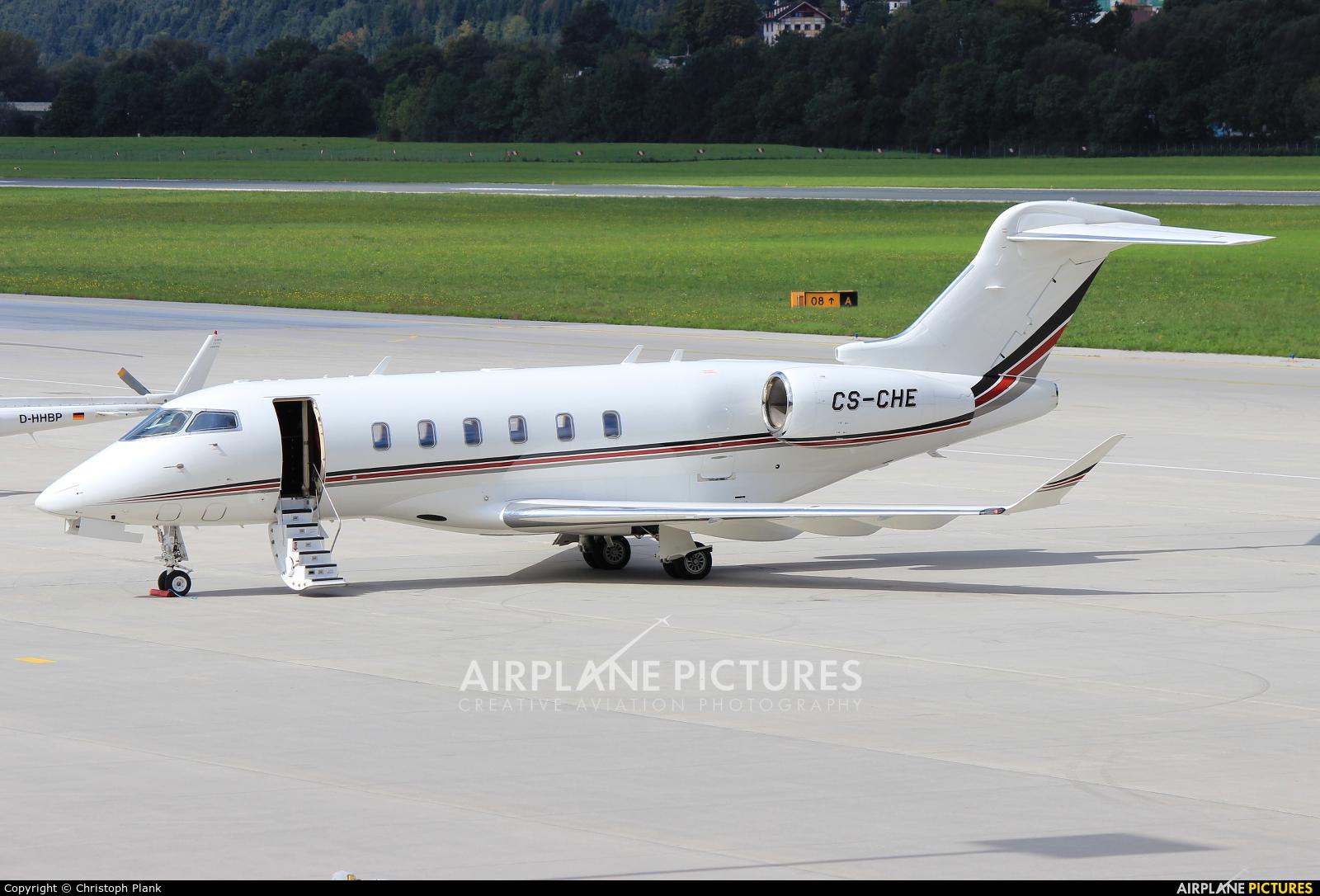 NetJets Europe (Portugal) CS-CHE aircraft at Innsbruck