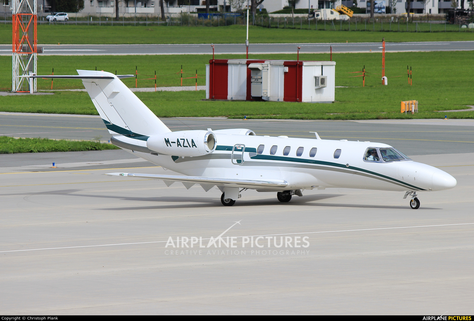 Private M-AZIA aircraft at Innsbruck