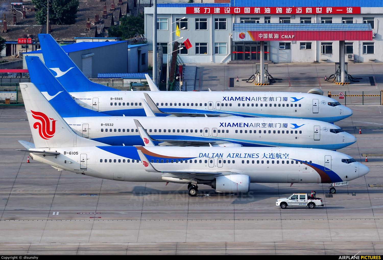 Dalian Airlines B-6105 aircraft at Dalian Zhoushuizi Int'l