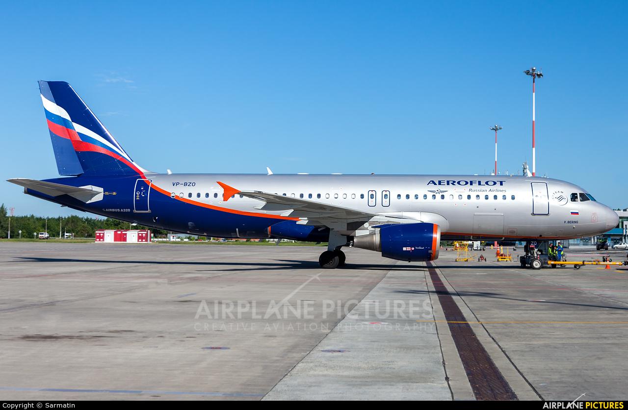 Aeroflot VP-BZO aircraft at Kazan
