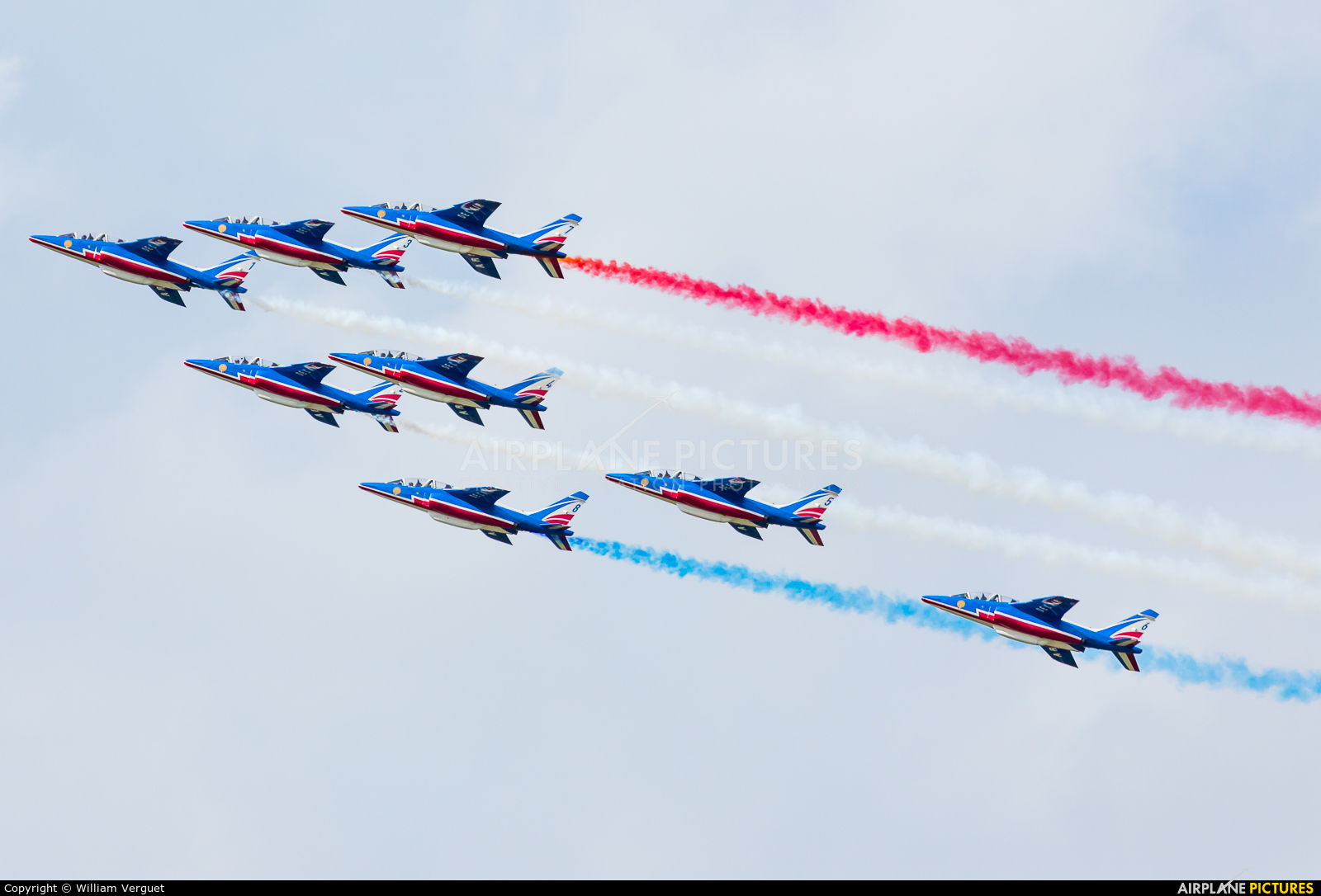 "France - Air Force ""Patrouille de France"" E45 aircraft at Evreux Fauville"