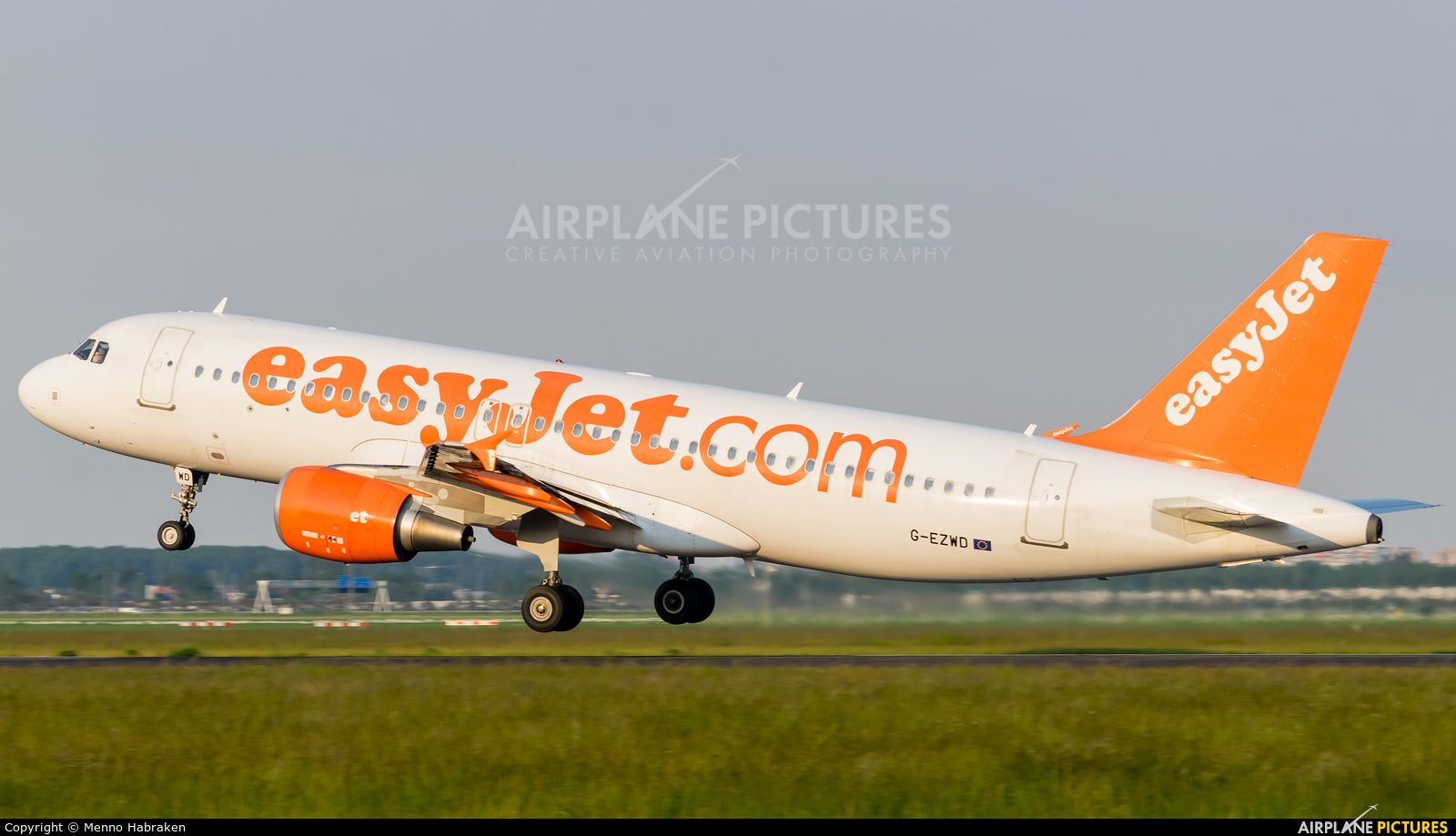 easyJet G-EZWD aircraft at Amsterdam - Schiphol