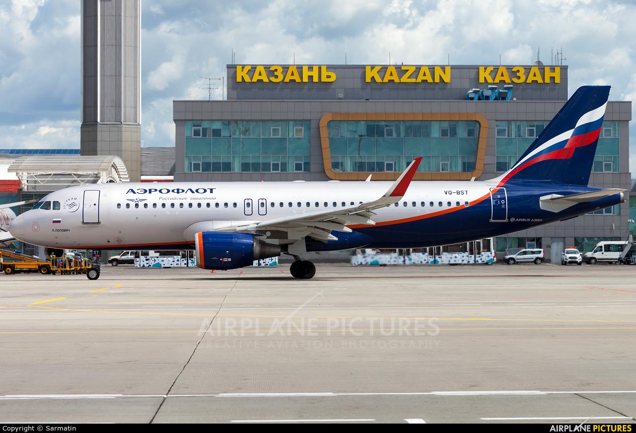 Aeroflot VQ-BST aircraft at Kazan