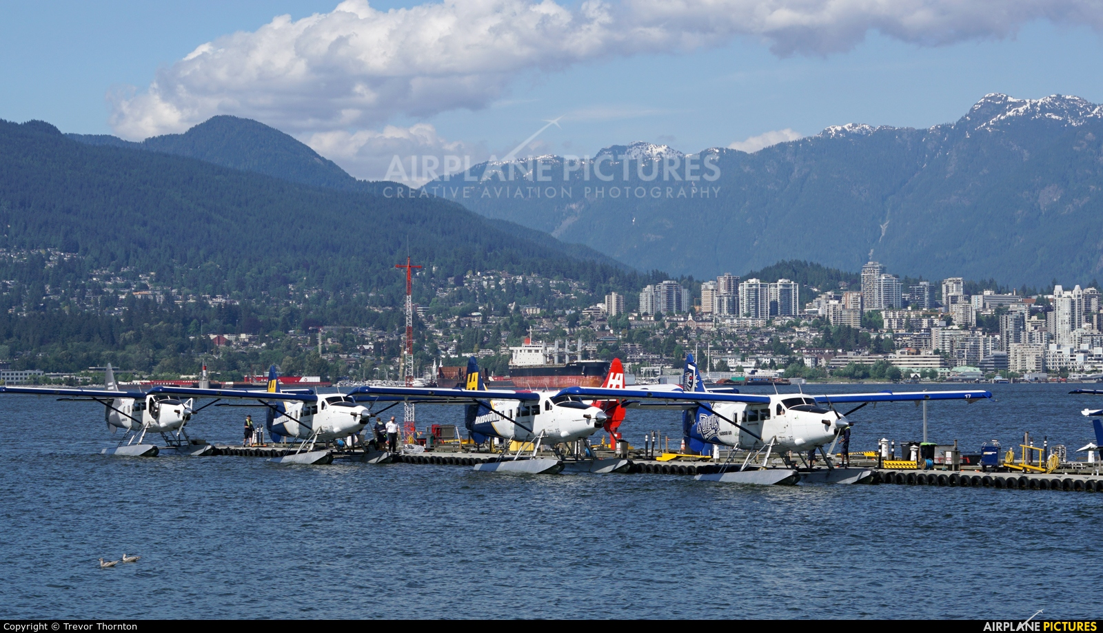 Harbour Air C-FHAS aircraft at Vancouver Coal Harbor, BC