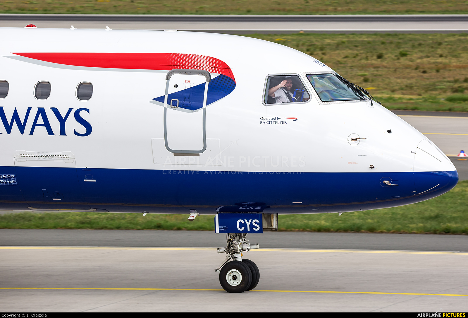British Airways - City Flyer G-LCYS aircraft at Frankfurt