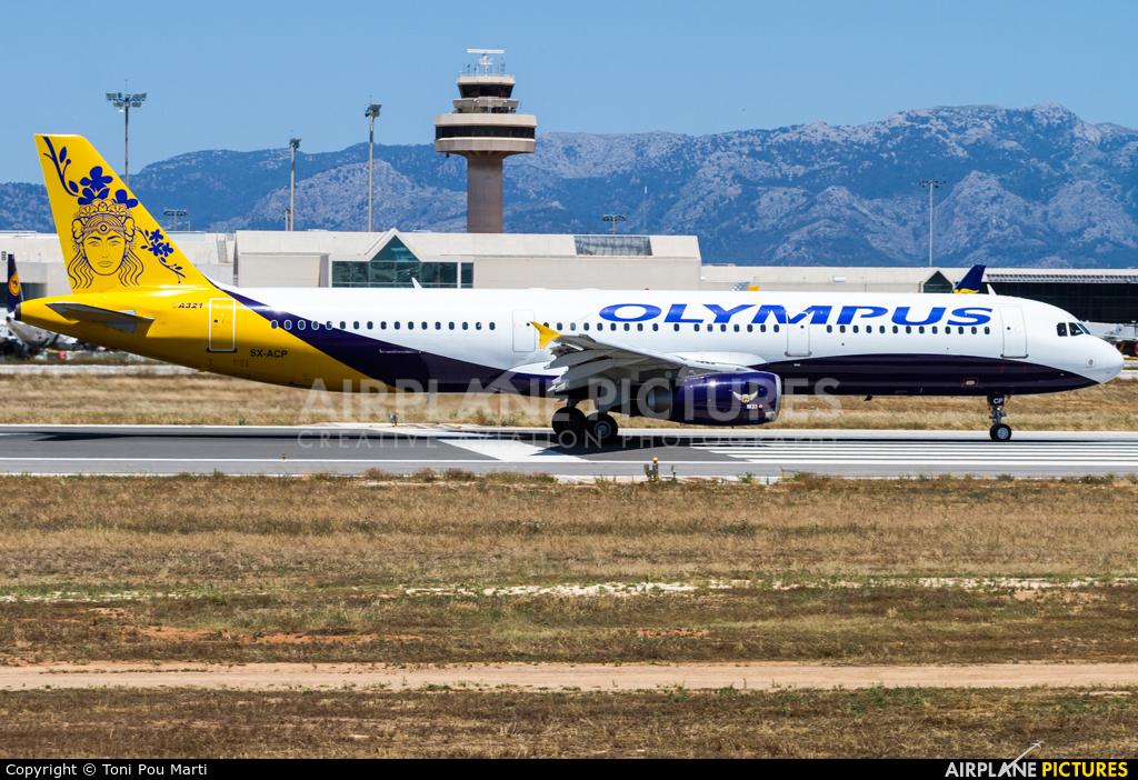 Olympus Airways SX-ACP aircraft at Palma de Mallorca