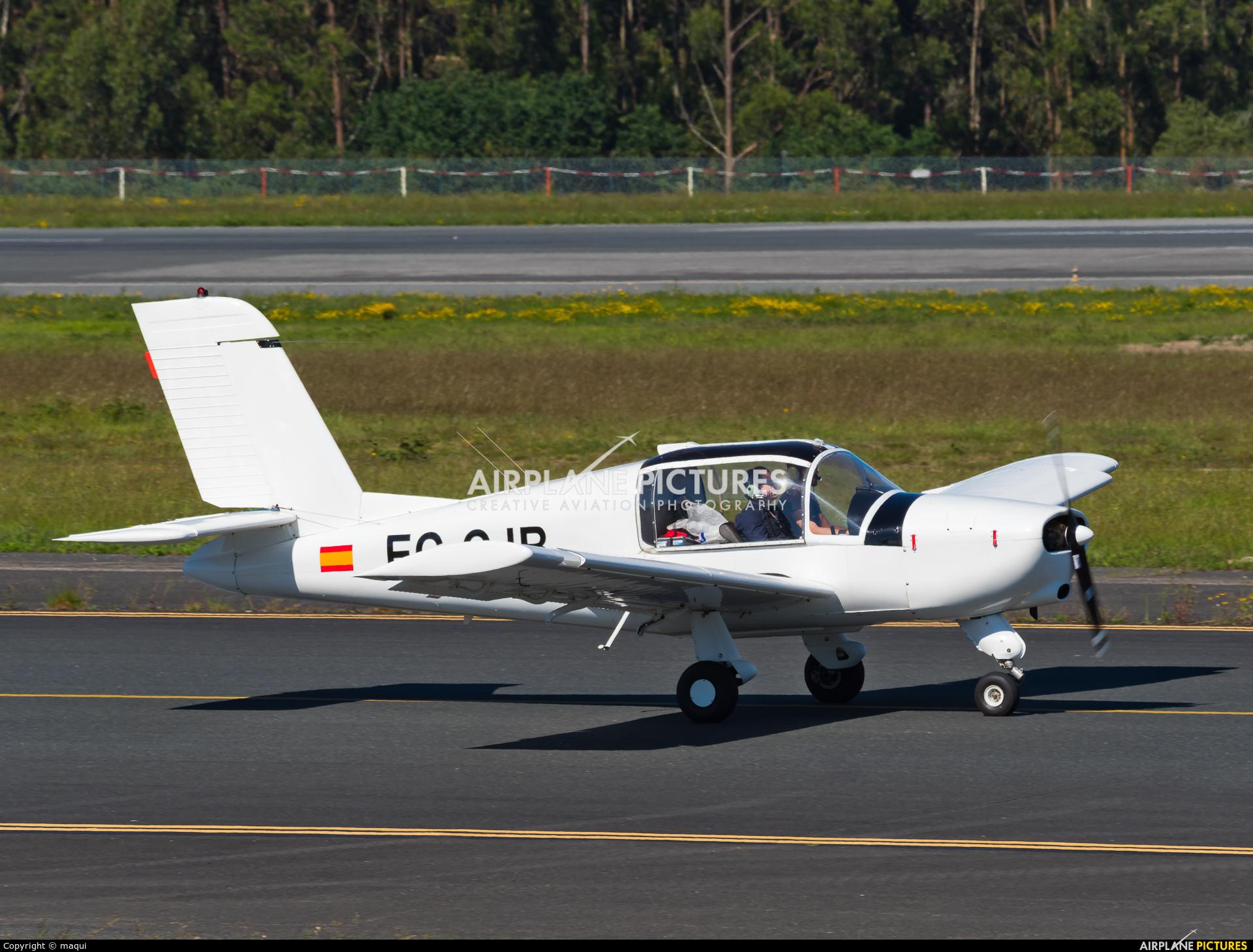 Real Aero Club de La Coruña EC-CJB aircraft at Santiago de Compostela