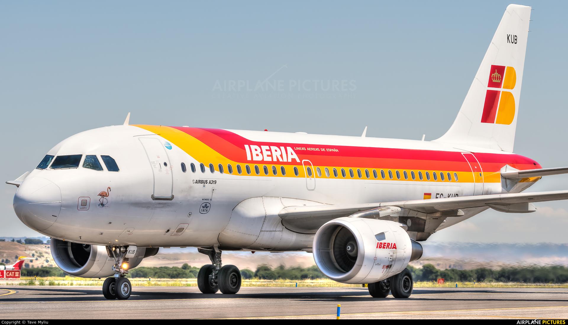 Iberia EC-KUB aircraft at Madrid - Barajas