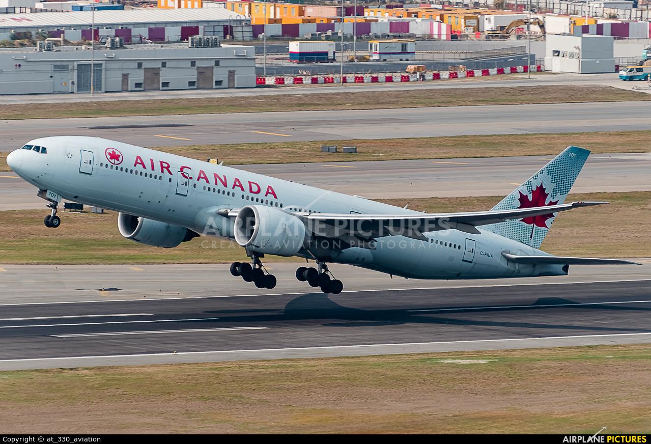 Air Canada C-FIUA aircraft at HKG - Chek Lap Kok Intl