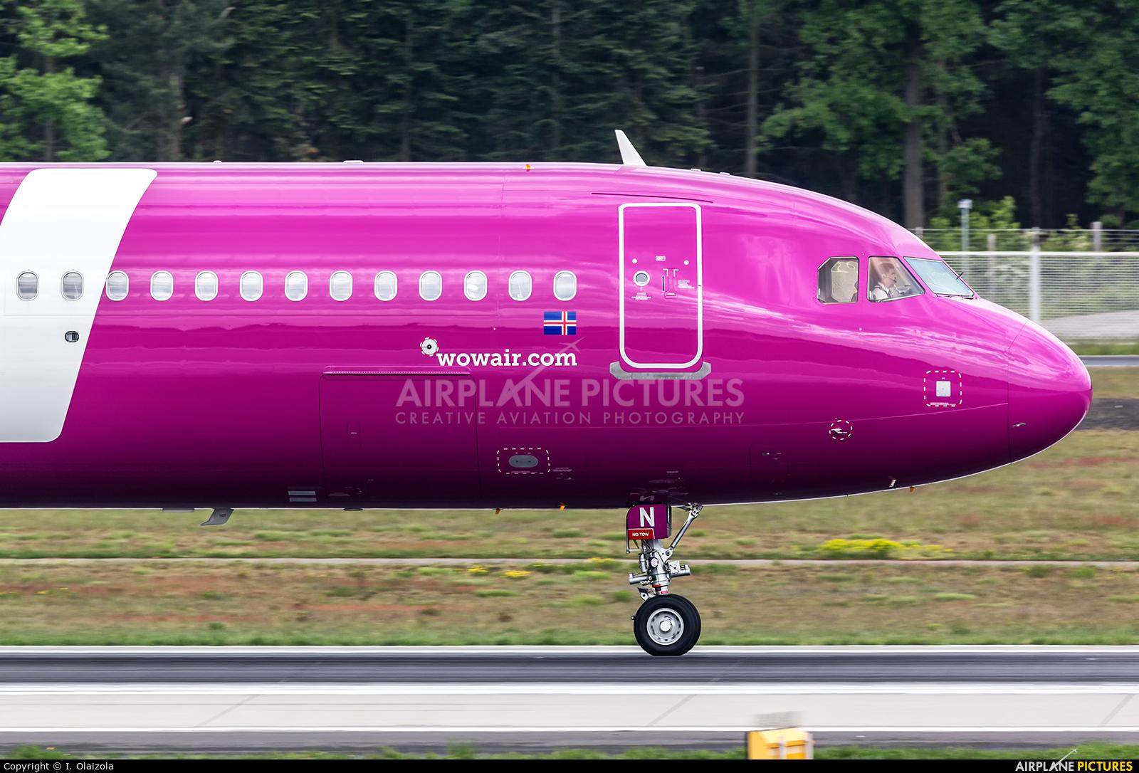 WOW Air TF-SON aircraft at Frankfurt