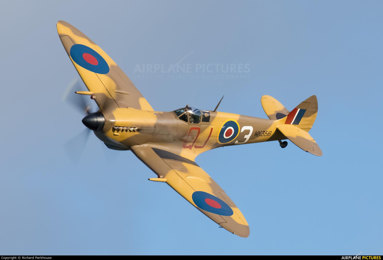 """Royal Air Force """"Battle of Britain Memorial Flight"""" MK356 aircraft at Old Warden"""