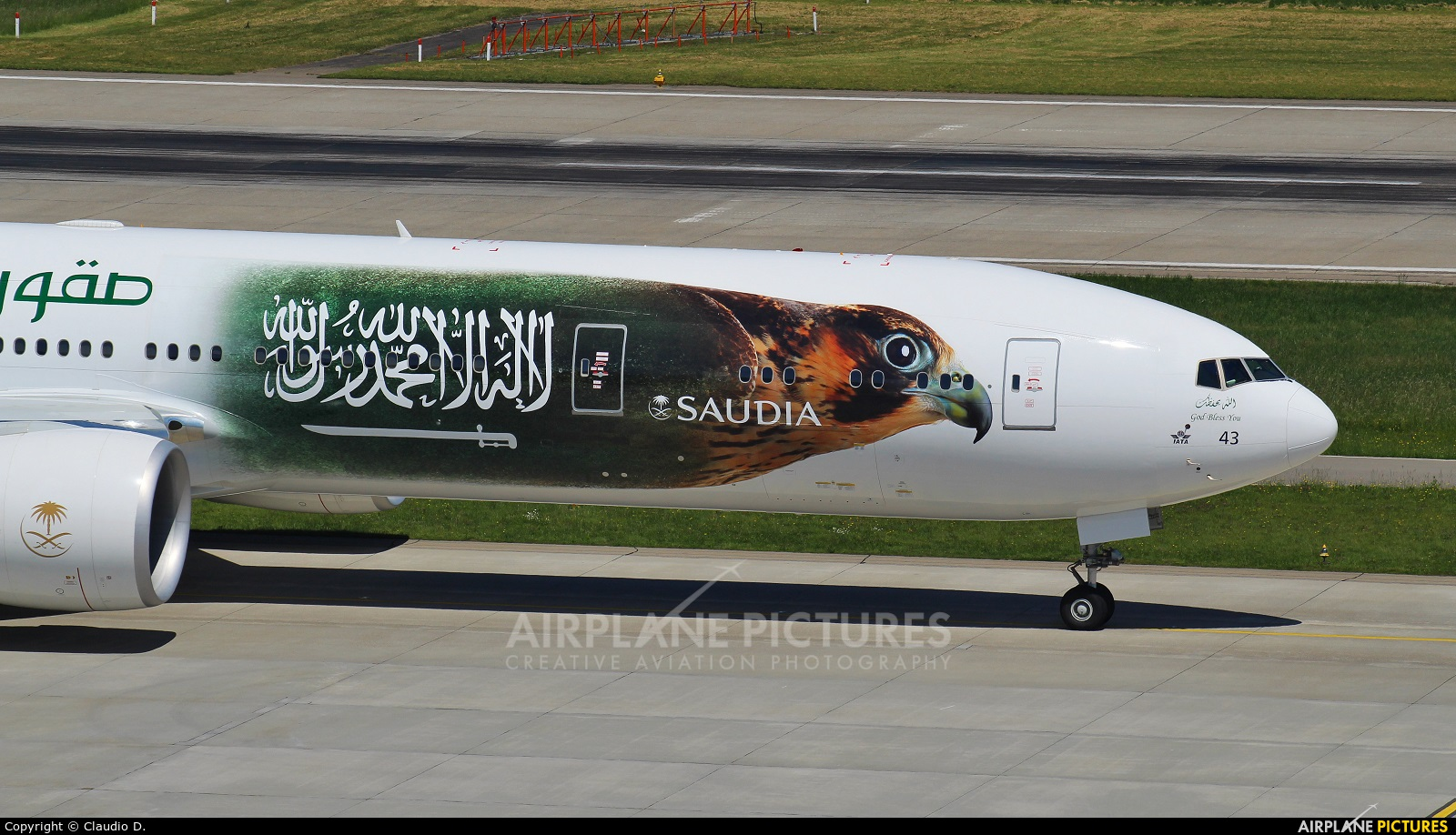 Saudi Arabian Airlines HZ-AK43 aircraft at Zurich