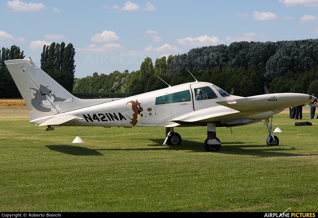 Private N421NA aircraft at Montagnana