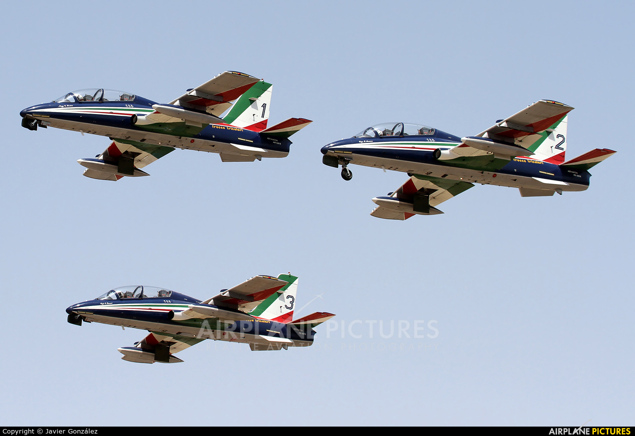 "Italy - Air Force ""Frecce Tricolori"" MM54538 aircraft at Murcia - San Javier"