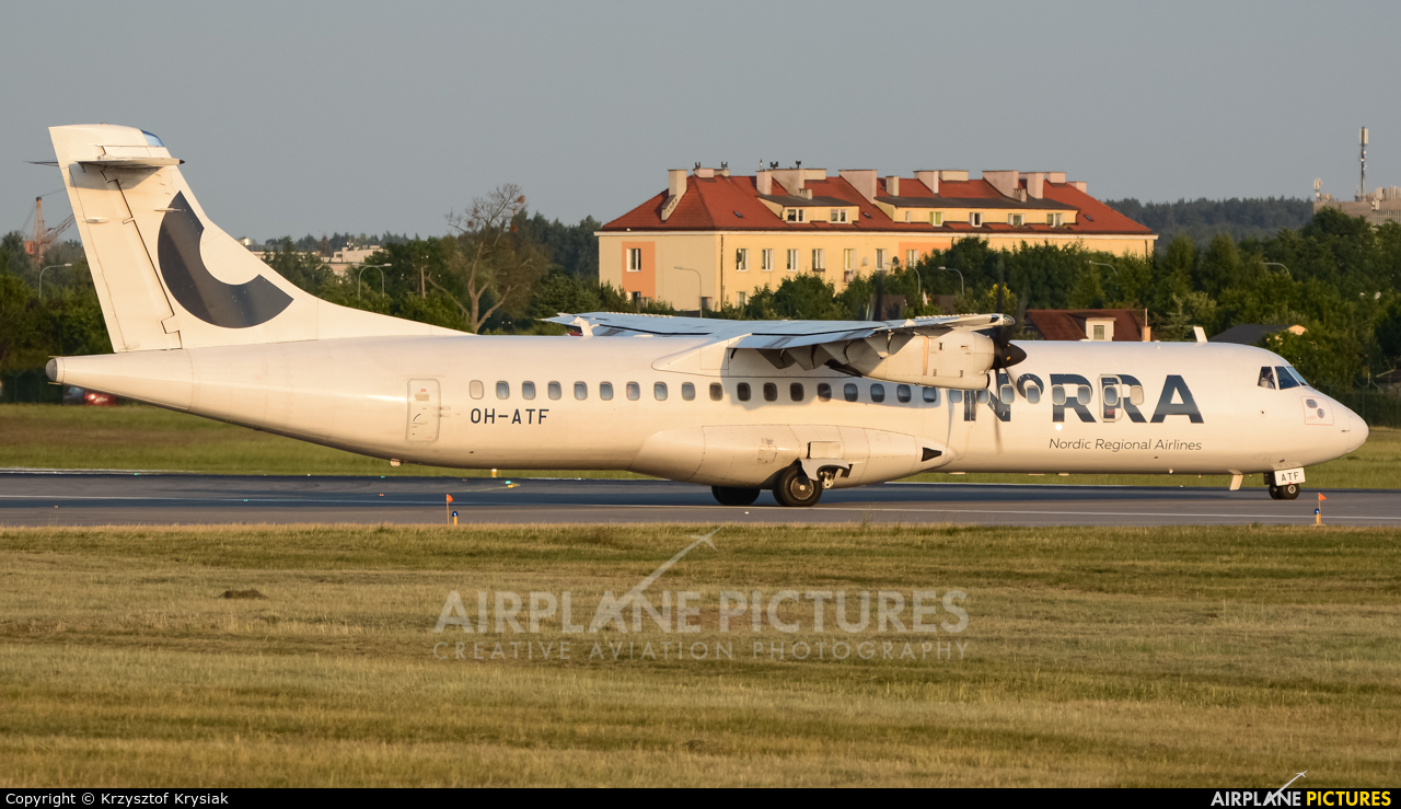 NoRRA - Nordic Regional Airlines OH-ATF aircraft at Gdańsk - Lech Wałęsa