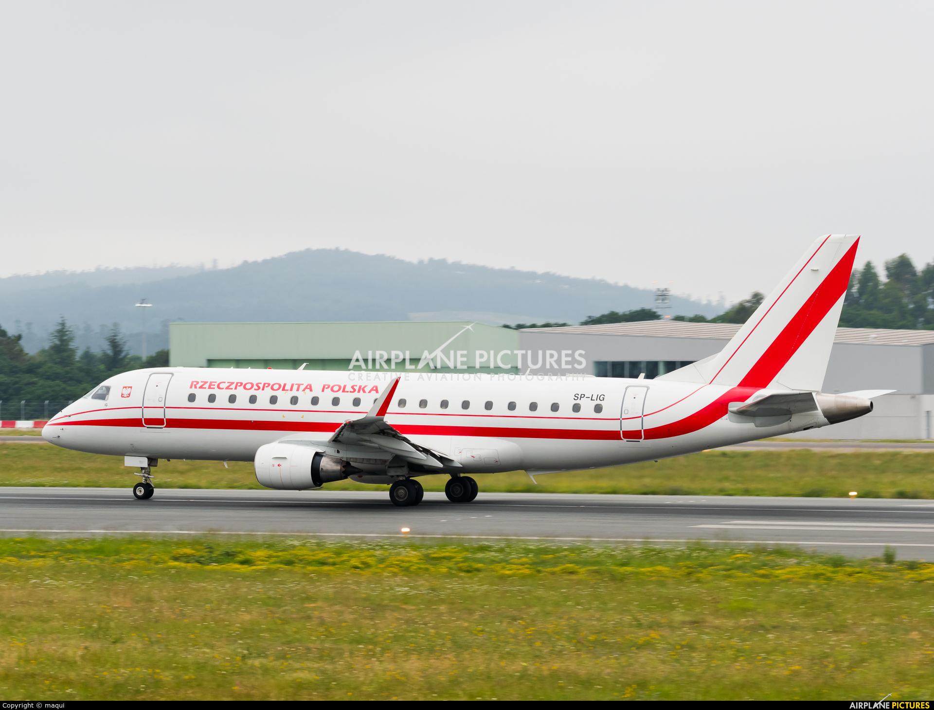 Poland - Government SP-LIG aircraft at Santiago de Compostela
