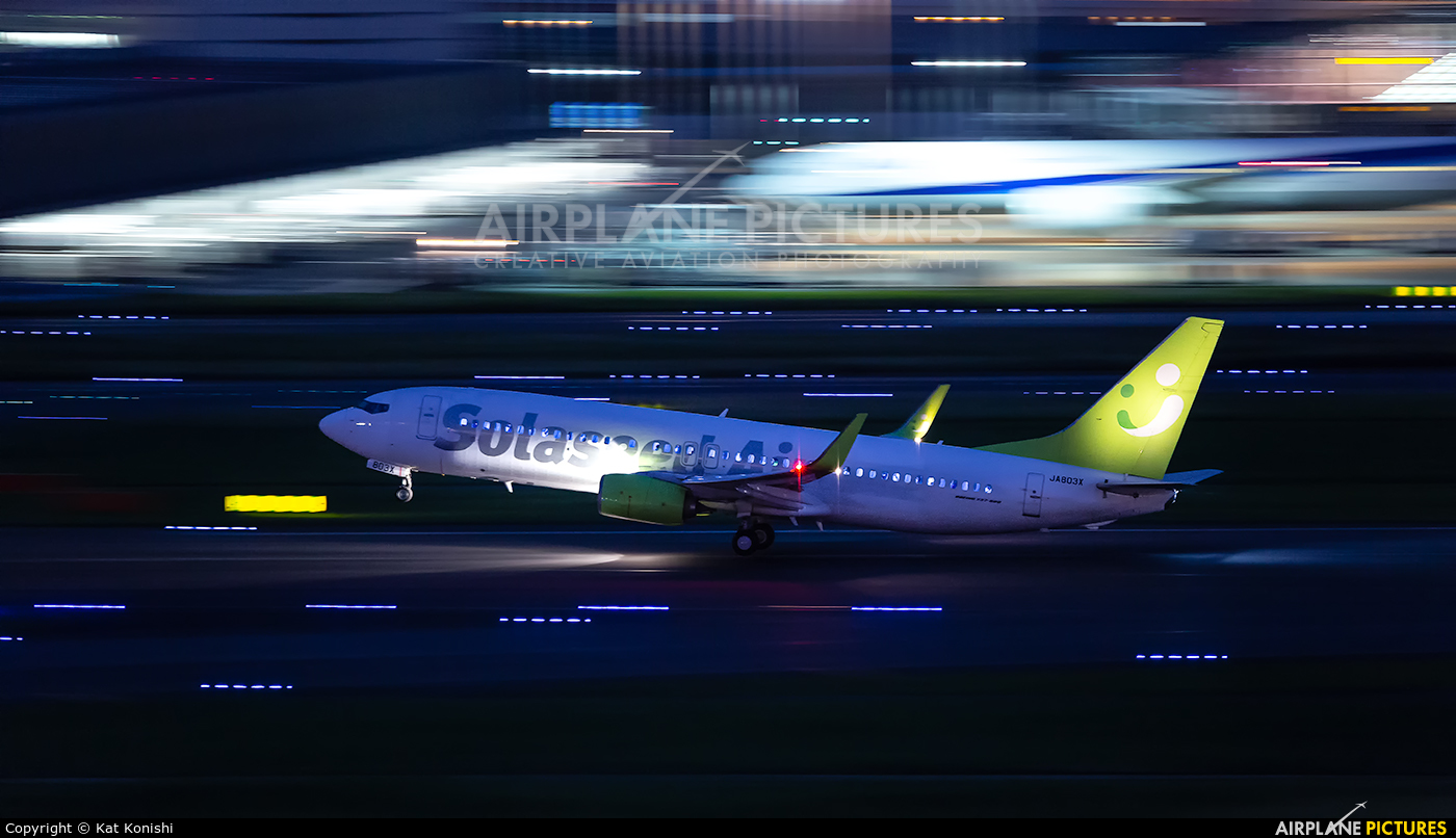 Solaseed Air - Skynet Asia Airways JA803X aircraft at Tokyo - Haneda Intl