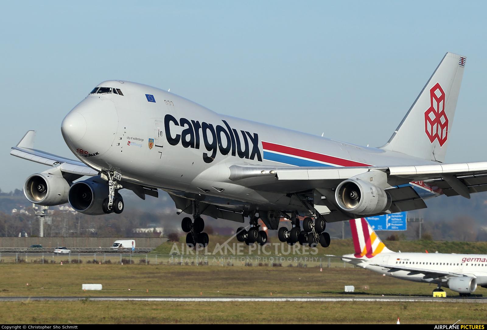 Cargolux LX-VCV aircraft at Stuttgart