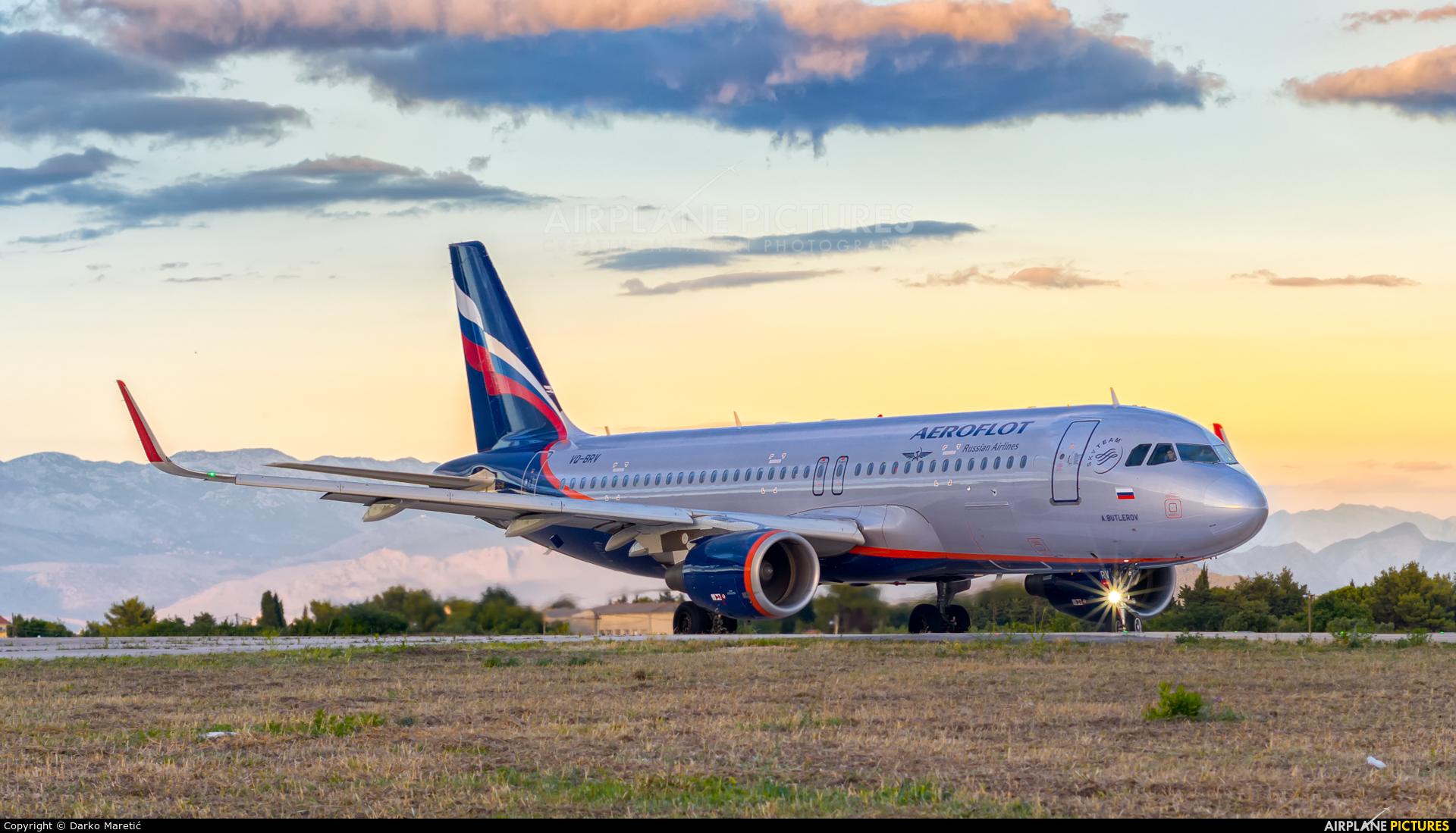 Aeroflot VQ-BRV aircraft at Split - Kaštela