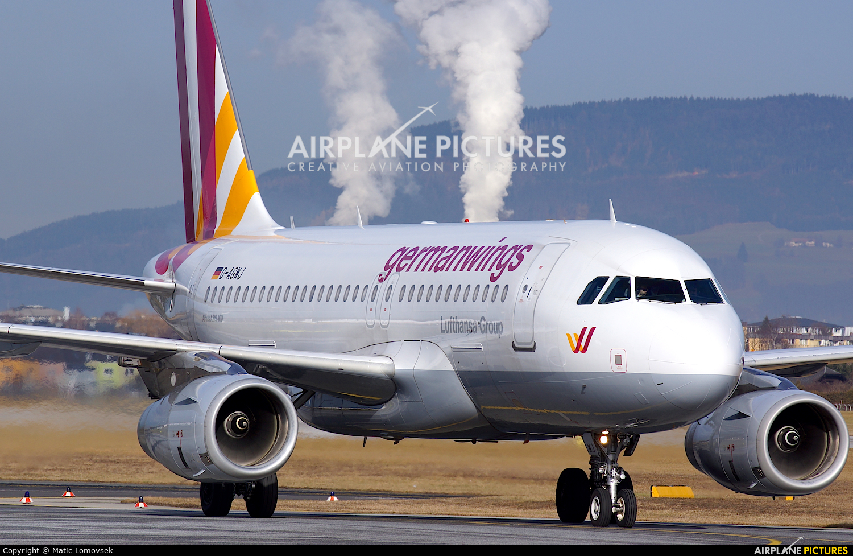 Germanwings D-AGWJ aircraft at Salzburg