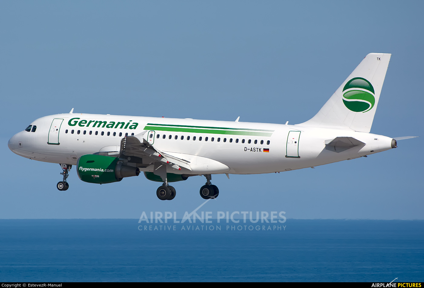 Germania D-ASTK aircraft at Tenerife Sur - Reina Sofia