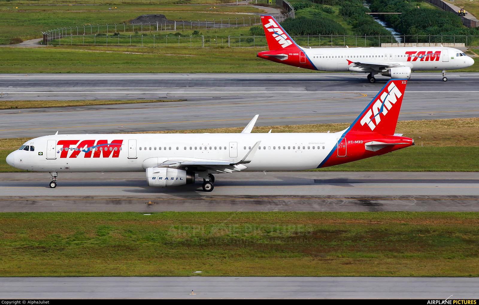 TAM PT-MXO aircraft at São Paulo - Guarulhos