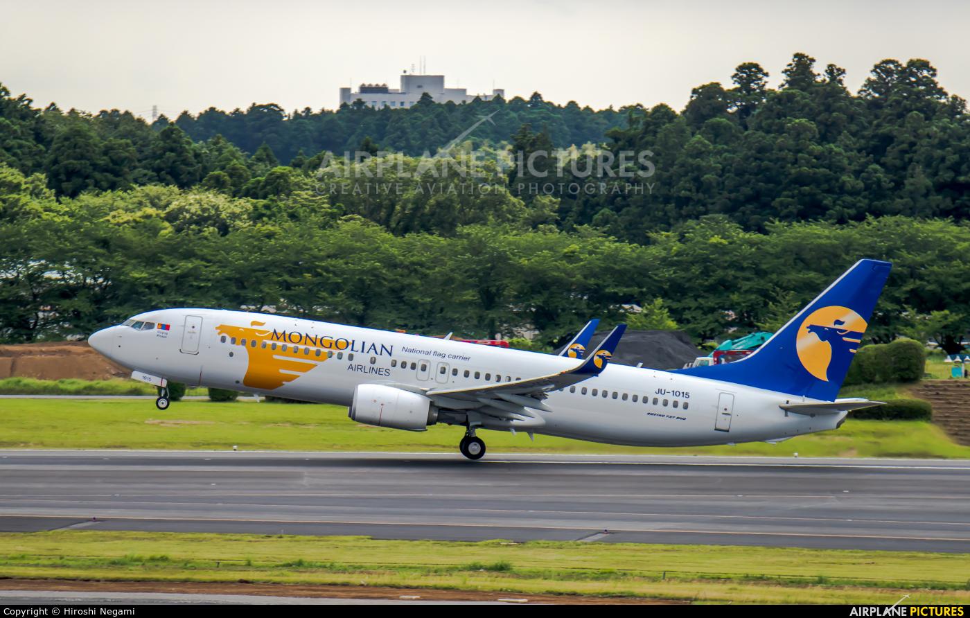 Mongolian Airlines JU-1015 aircraft at Tokyo - Narita Intl