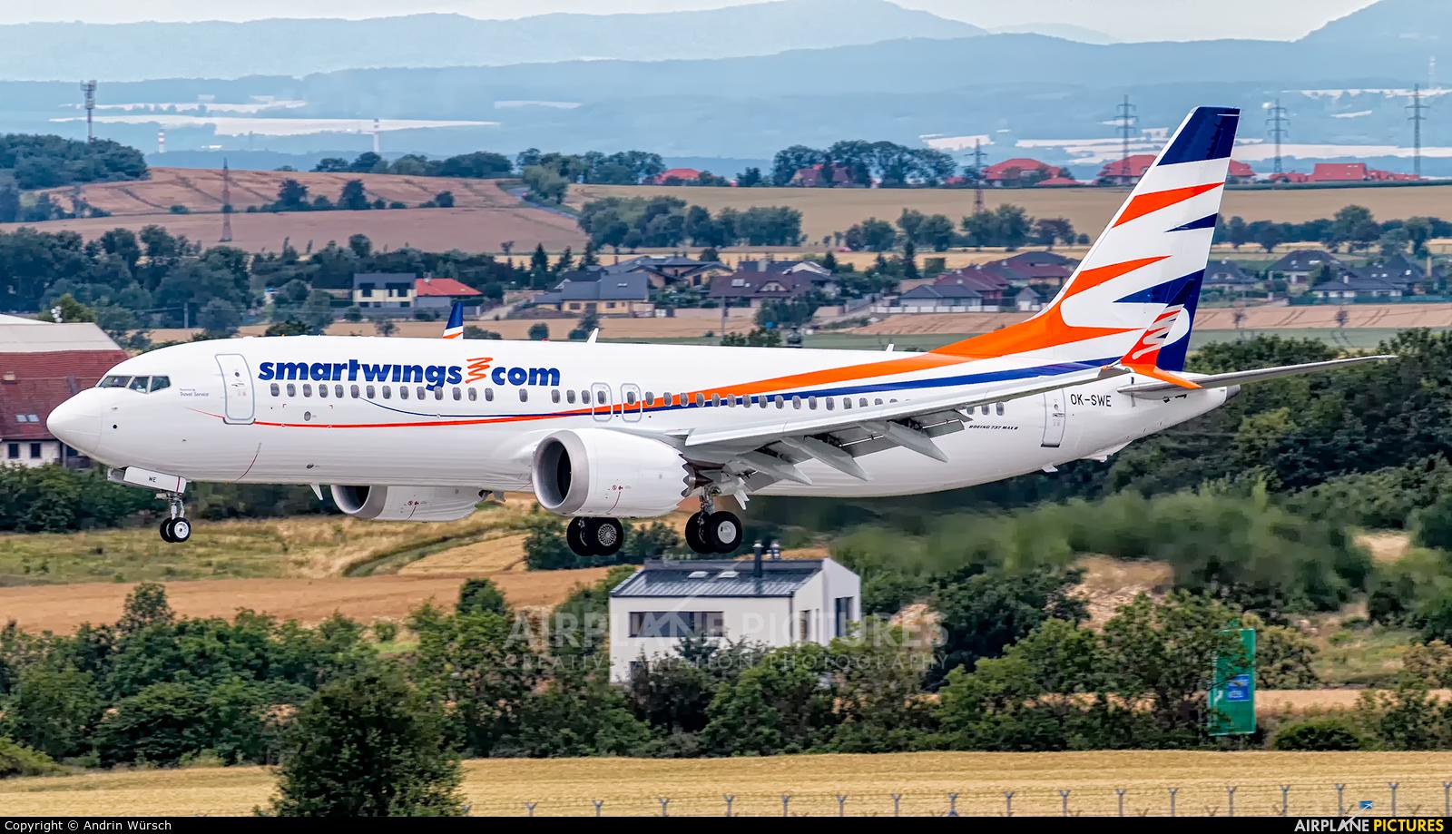 SmartWings OK-SWE aircraft at Prague - Václav Havel