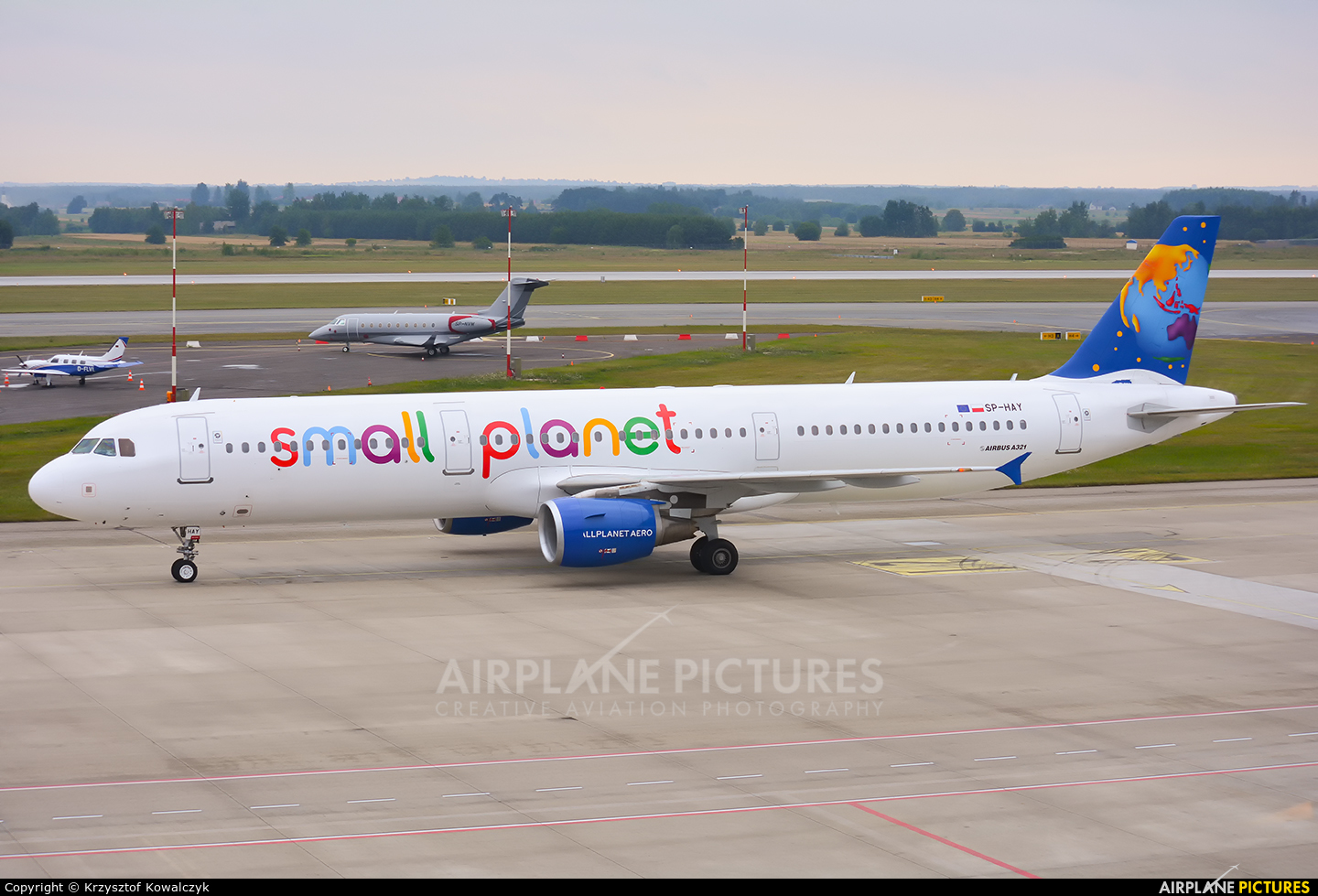 Small Planet Airlines SP-HAY aircraft at Katowice - Pyrzowice