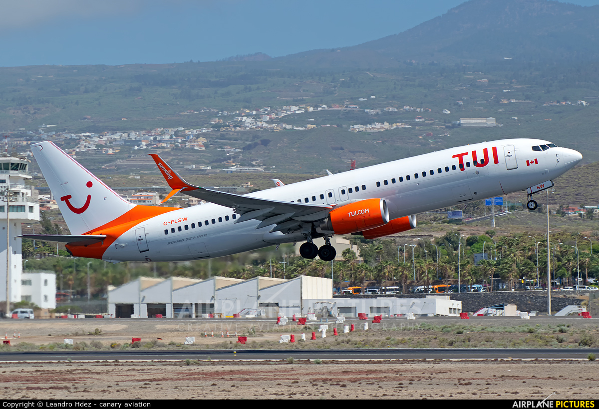TUI Airlines Netherlands C-FLSW aircraft at Tenerife Sur - Reina Sofia