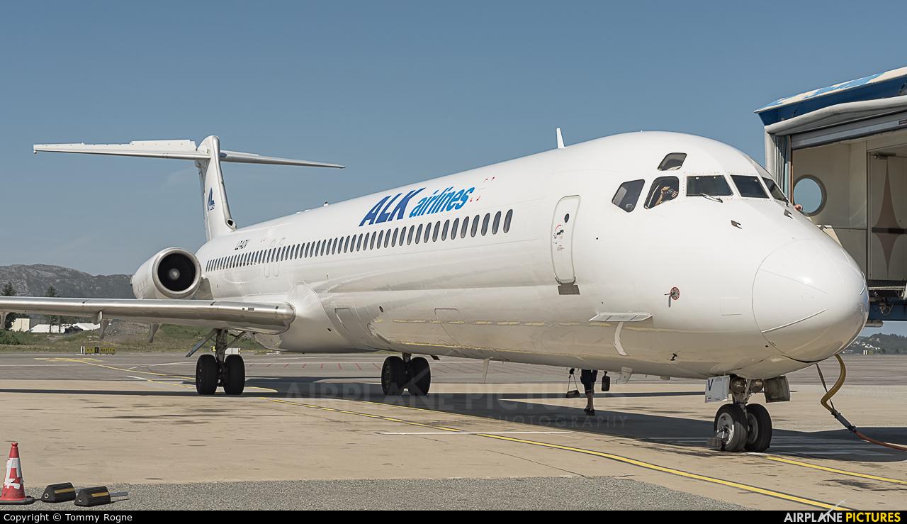 ALK Airlines LZ-ADV aircraft at Bergen - Flesland