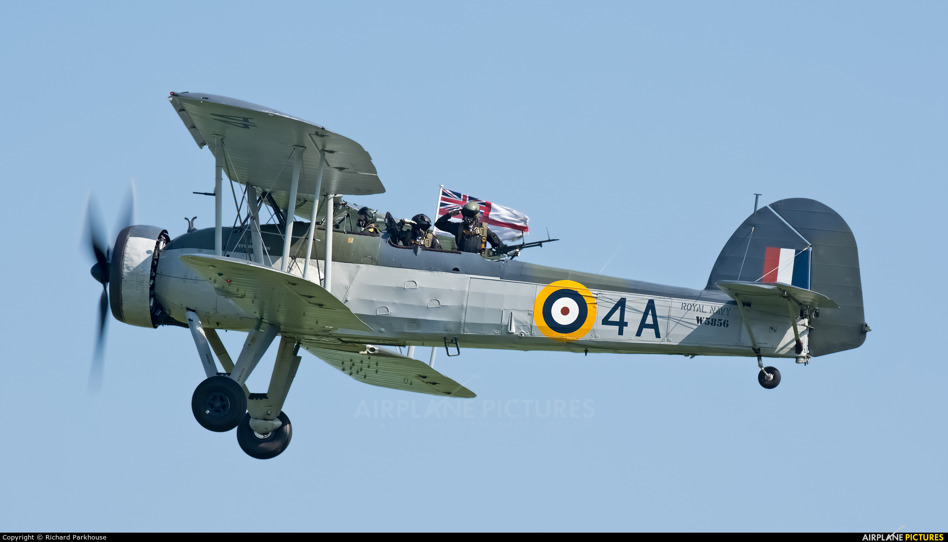 "Royal Navy ""Historic Flight"" W5856 aircraft at Duxford"