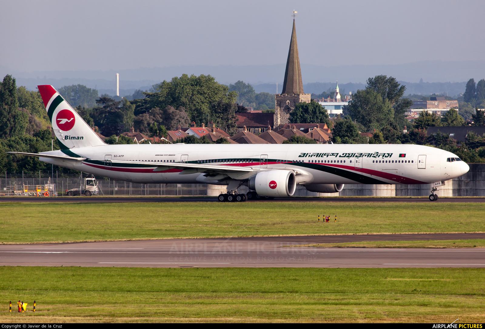 Biman Bangladesh S2-AFP aircraft at London - Heathrow