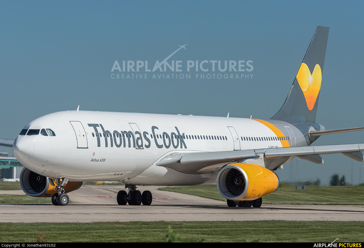 Thomas Cook G-OMYT aircraft at Manchester
