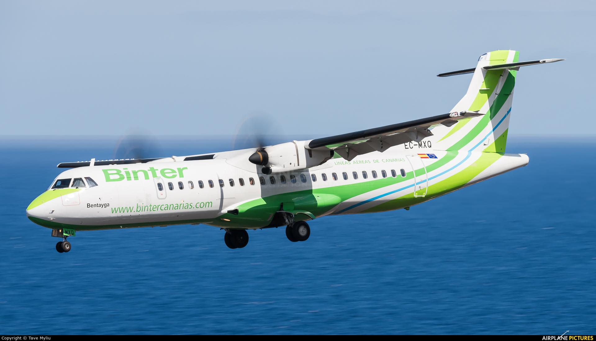 Binter Canarias EC-MXQ aircraft at Santa Cruz de La Palma