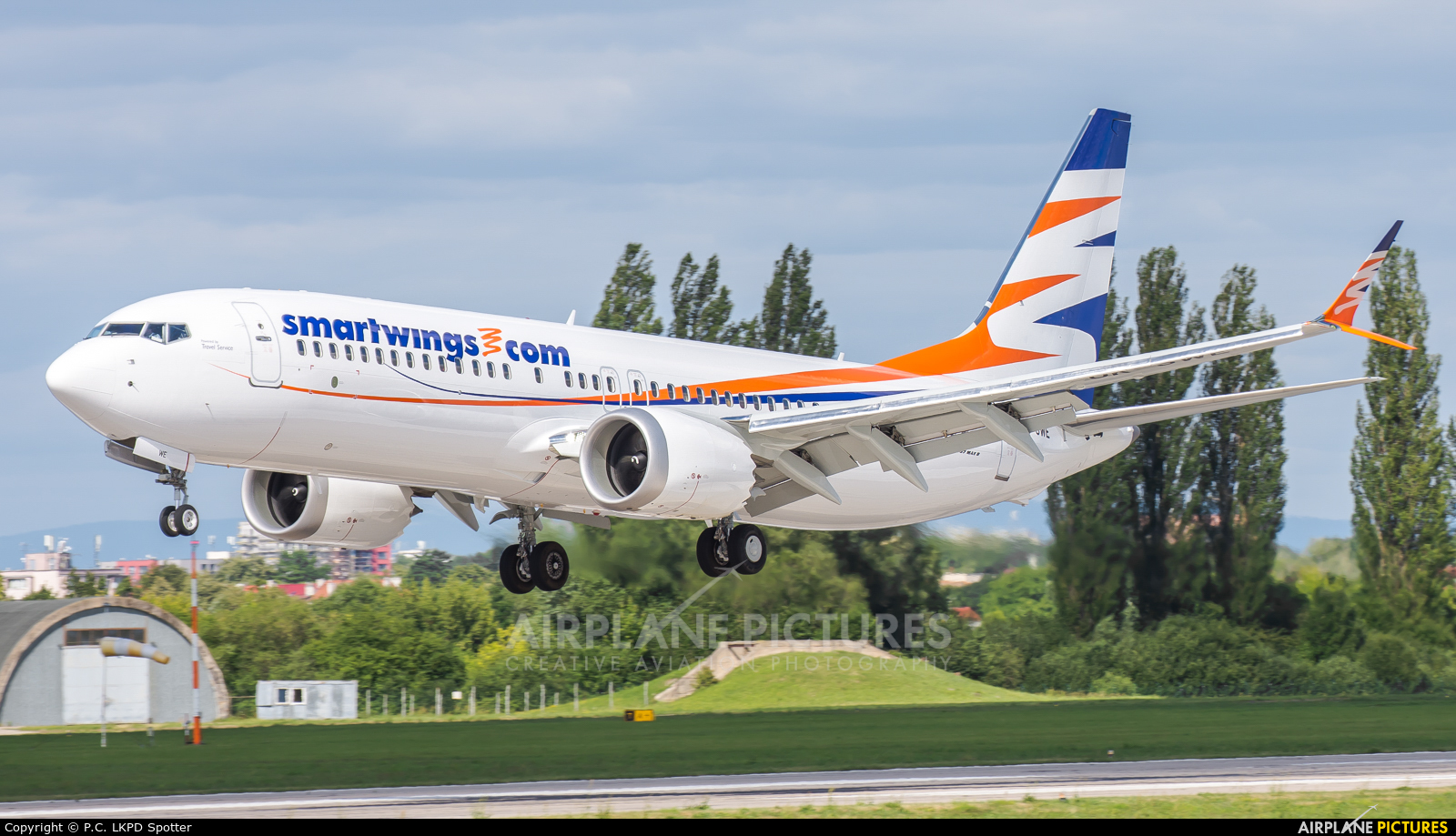 SmartWings OK-SWE aircraft at Pardubice
