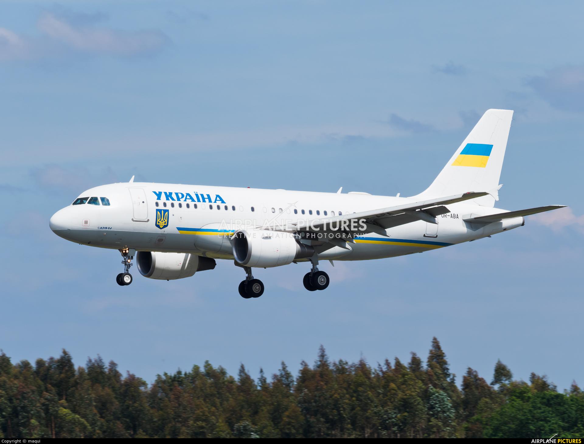 Ukraine - Government UR-ABA aircraft at Santiago de Compostela