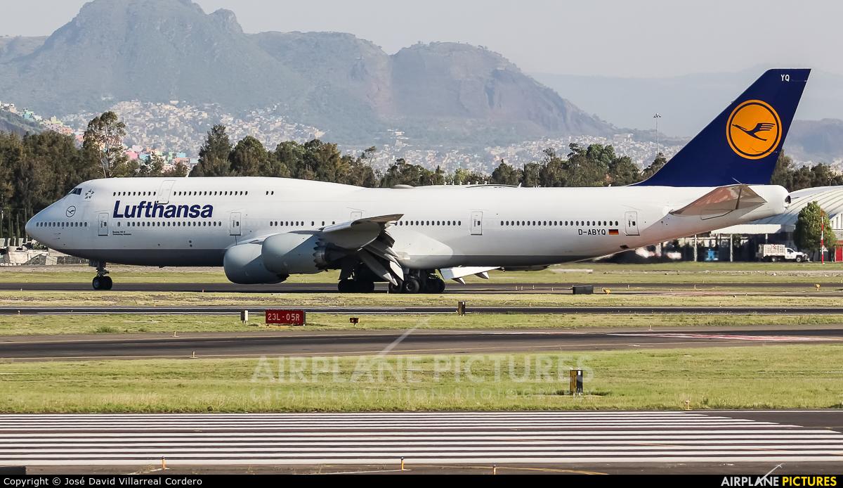Lufthansa D-ABYQ aircraft at Mexico City - Licenciado Benito Juarez Intl