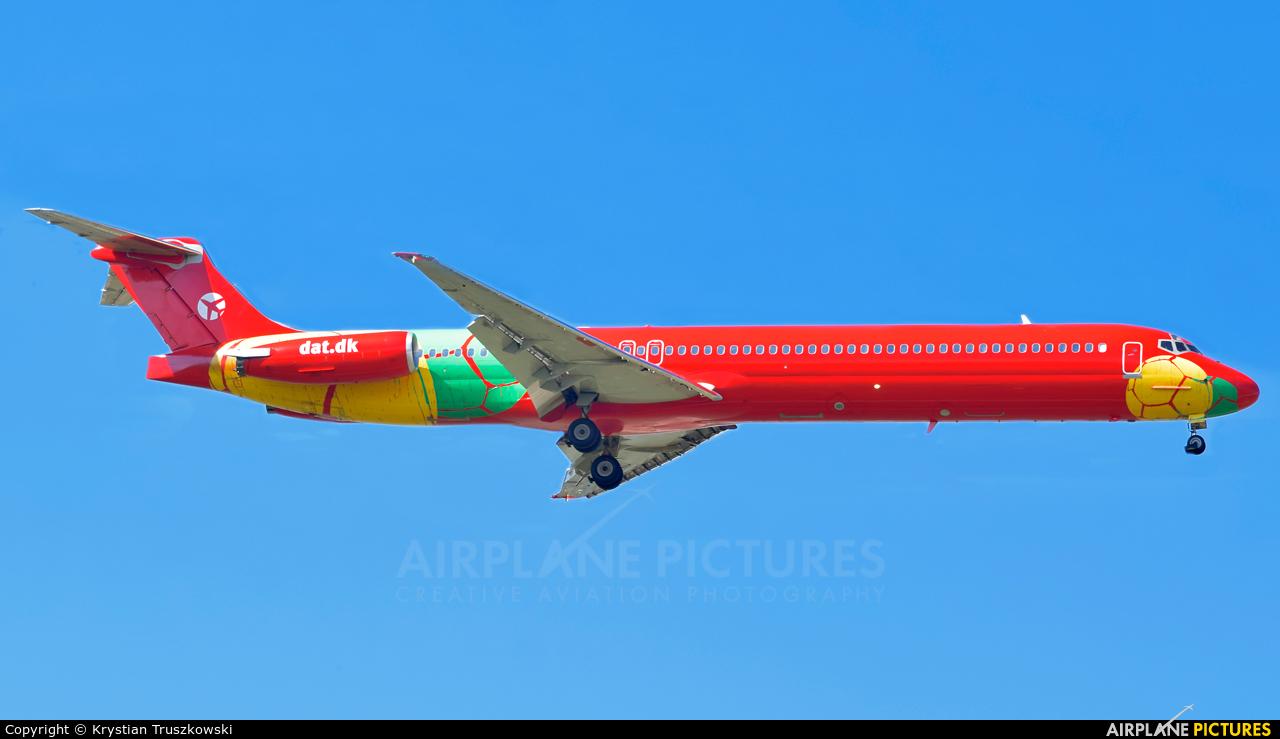 Danish Air Transport OY-RUE aircraft at Warsaw - Frederic Chopin