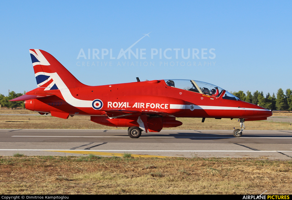 "Royal Air Force ""Red Arrows"" XX227 aircraft at Tanagra"