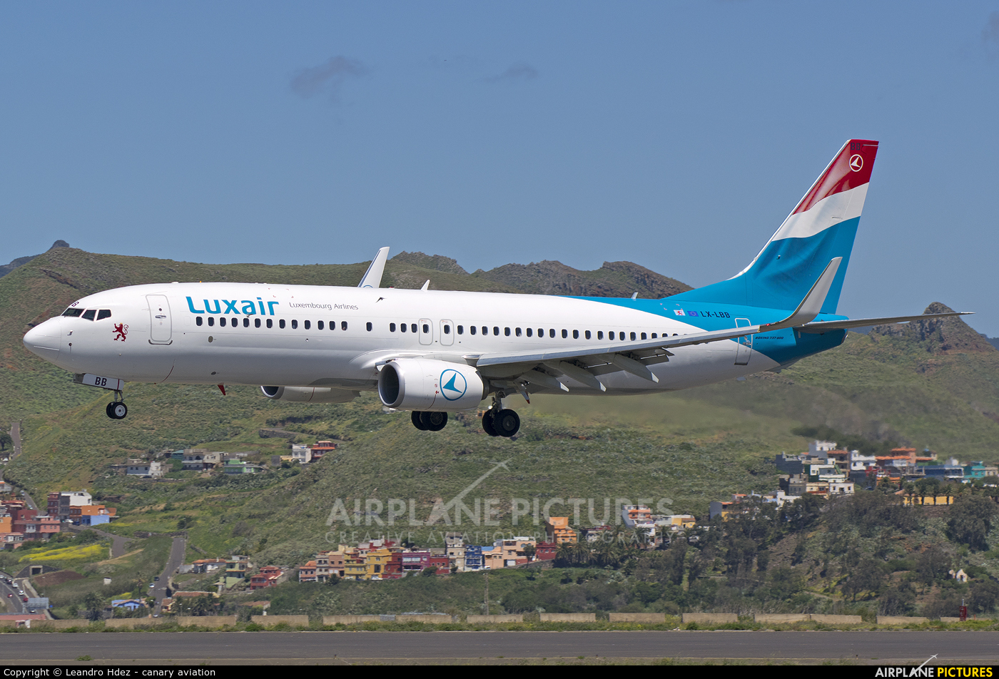 Luxair LX-LBB aircraft at Tenerife Norte - Los Rodeos