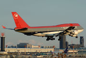 N668US - Northwest Airlines Boeing 747-400 aircraft