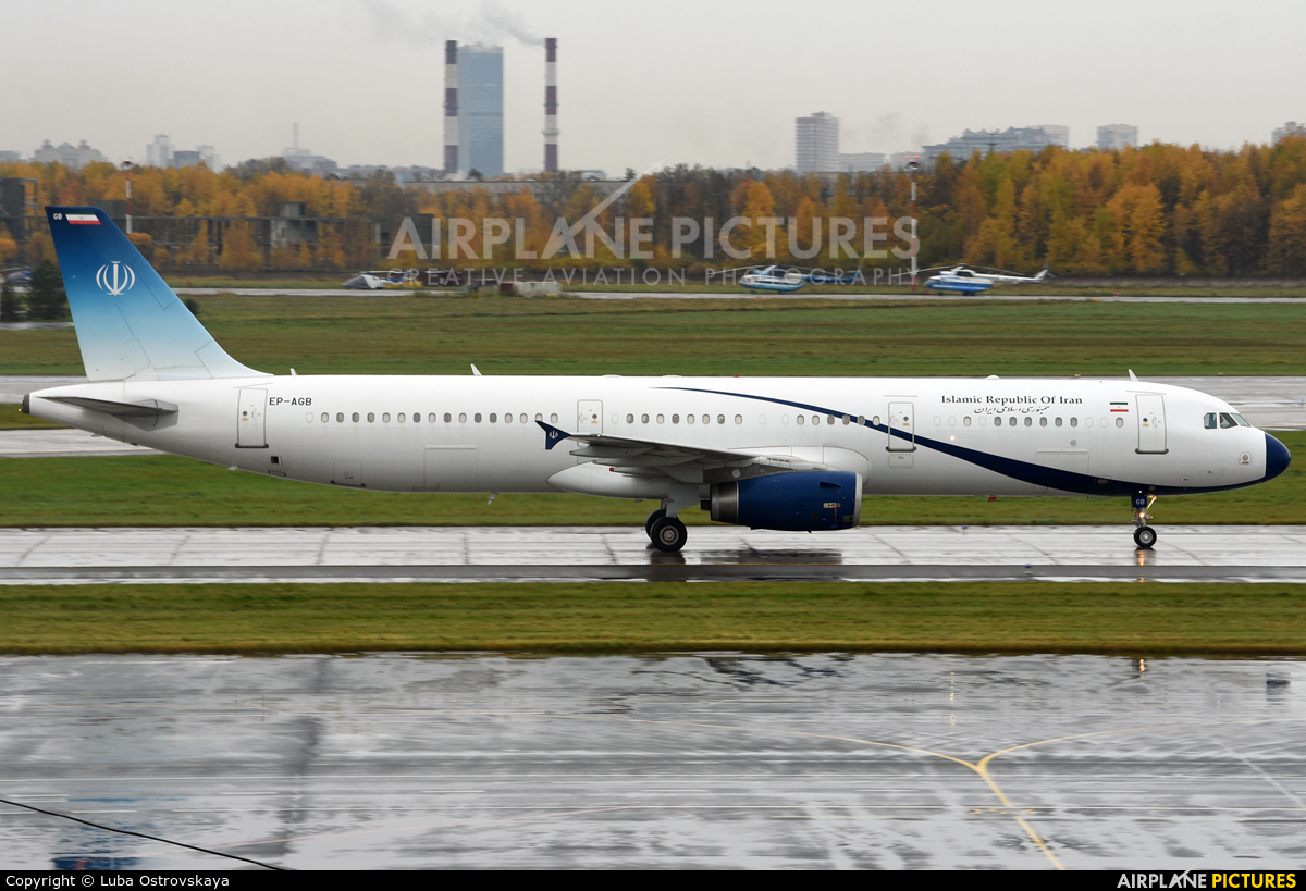 Iran - Government EP-AGB aircraft at St. Petersburg - Pulkovo