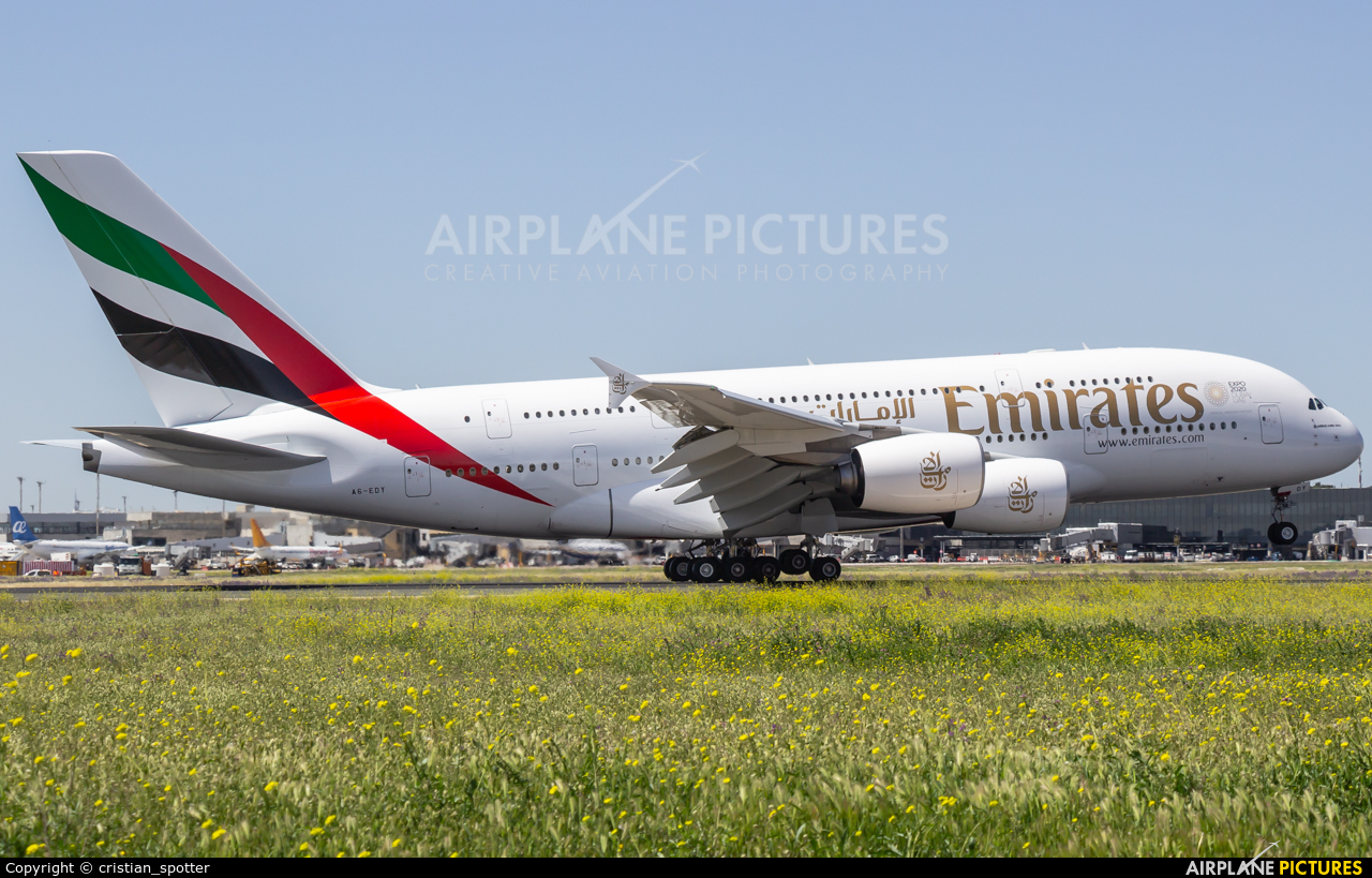 Emirates Airlines A6-EDY aircraft at Madrid - Barajas